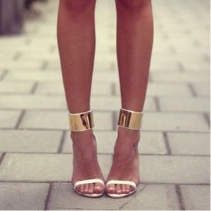 Zara White Heels